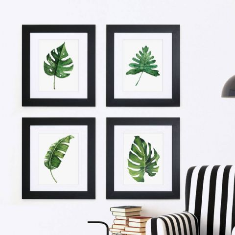 Set Of Four Framed Botanical Prints